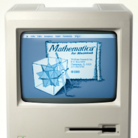 Mathematica 1.0 starts up on a Macintosh…