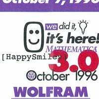October 7, 1996: The wrap party for Mathematica 3.0