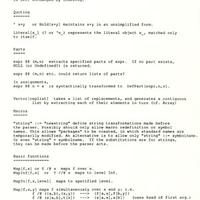 Nov. 1986: The Mathematica language begins to take shape…